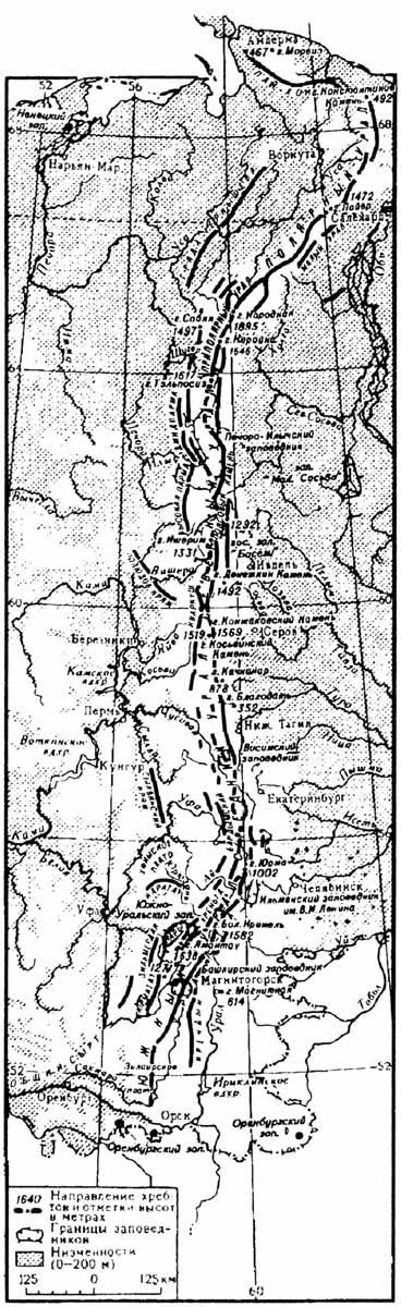 карта орографическая карта